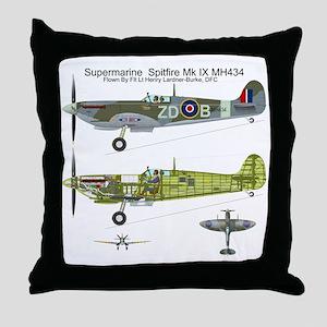 SpitfireBib Throw Pillow