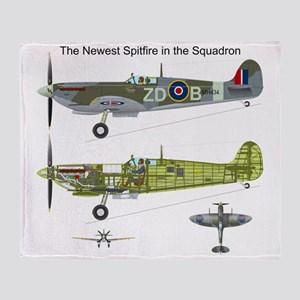 SpitfireOnePiece Throw Blanket