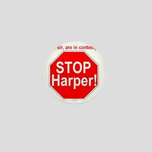 STOP-Harper-RED Mini Button