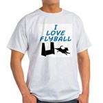 Love Flyball (2) Ash Grey T-Shirt
