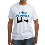 Love Flyball (2) Fitted T-Shirt