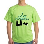Love Flyball (2) Green T-Shirt
