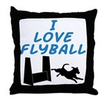 Love Flyball (2) Throw Pillow