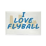 Love Flyball (2) Rectangle Magnet (100 pack)
