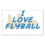 Love Flyball (2) Rectangle Sticker