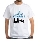 Love Flyball (2) White T-Shirt