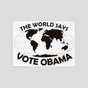 Vote Obama big 5'x7'Area Rug