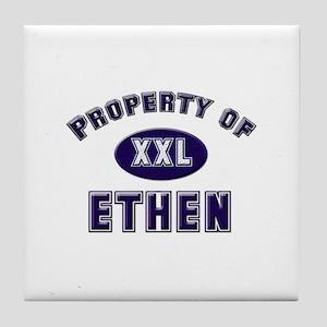 Property of ethen Tile Coaster