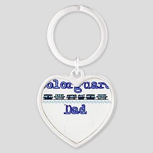 new guard dad Heart Keychain