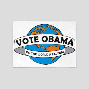 Obama world big 5'x7'Area Rug