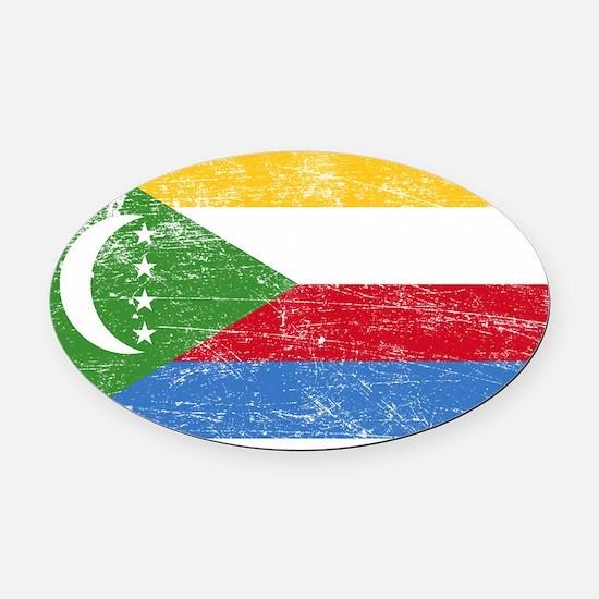 Comoros Oval Car Magnet