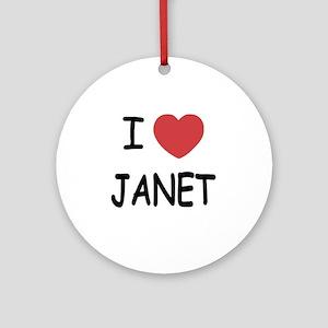 JANET Round Ornament