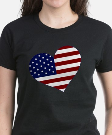 usa heart Women's Dark T-Shirt