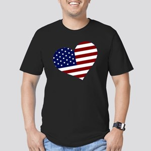 usa heart Men's Fitted T-Shirt (dark)