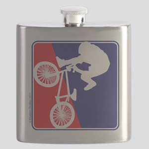 red-White-Blue-Biker Flask