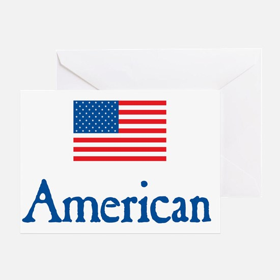 American Under FLAG Greeting Card