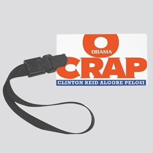 OCRAP For all Shirt colors Large Luggage Tag
