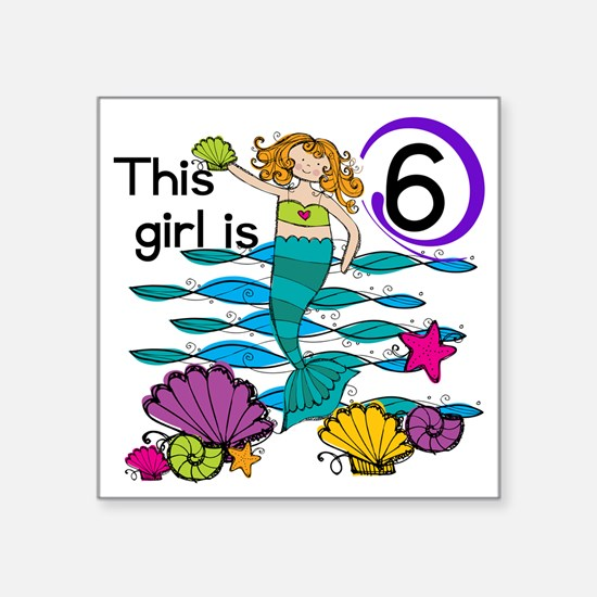 """MERMAIDSIX Square Sticker 3"""" x 3"""""""
