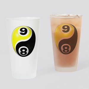 8 Ball 9 Ball Yin Yang Drinking Glass
