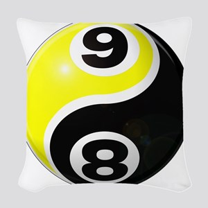 8 Ball 9 Ball Yin Yang Woven Throw Pillow