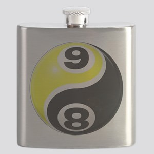 8 Ball 9 Ball Yin Yang Flask
