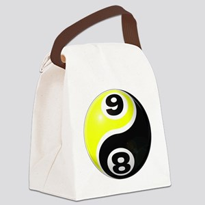 8 Ball 9 Ball Yin Yang Canvas Lunch Bag