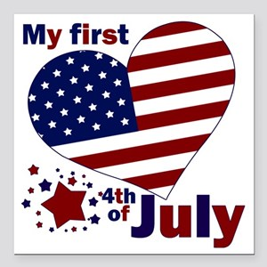 "first 4th Square Car Magnet 3"" x 3"""