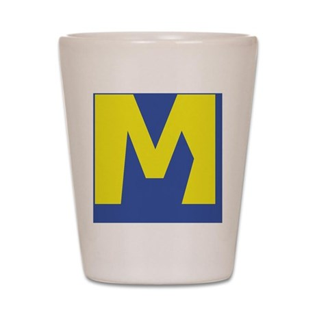 M is for Marraige Shot Glass