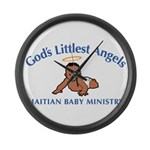 Gods littlest Angels Large Wall Clock