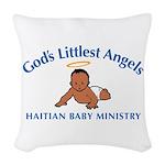 Gods Littlest Angels Woven Throw Pillow