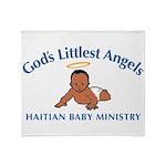 Gods littlest Angels Throw Blanket
