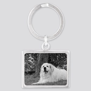 Great Pyrenees Landscape Keychain