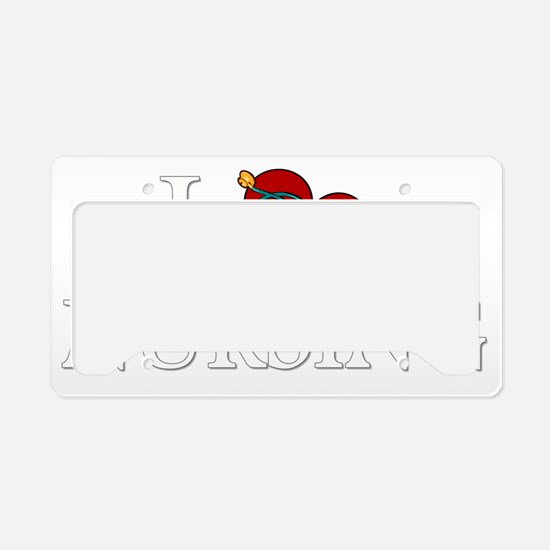 ilovenursing-dark License Plate Holder