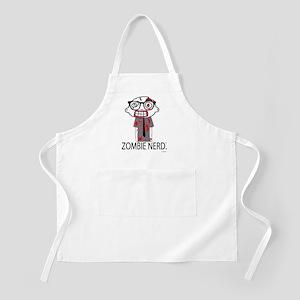 Zombie Nerd WHITE copyrighted Apron