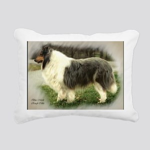 collie chance card borde Rectangular Canvas Pillow