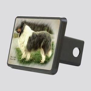 collie chance card border Rectangular Hitch Cover