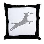 Disc Dog Throw Pillow