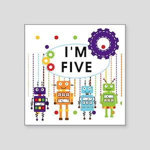 "ROBOTFIVE Square Sticker 3"" x 3"""