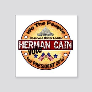 "herman cain. Square Sticker 3"" x 3"""