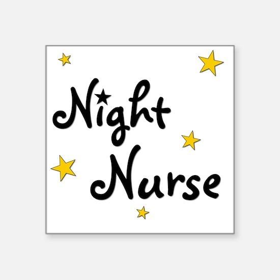 "nightnurse Square Sticker 3"" x 3"""