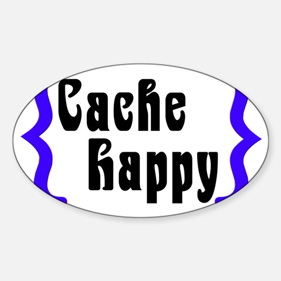 CacheHappy2 Sticker (Oval)