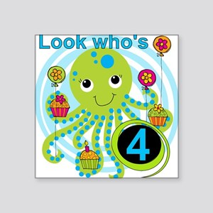 "OCTOPUSfour Square Sticker 3"" x 3"""