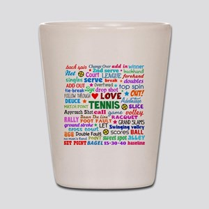 Tennis Names Shirt Shot Glass