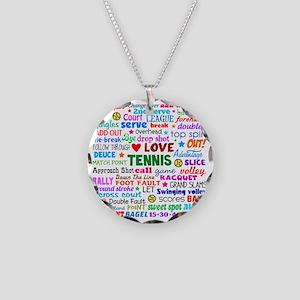 Tennis Names Shirt Necklace Circle Charm