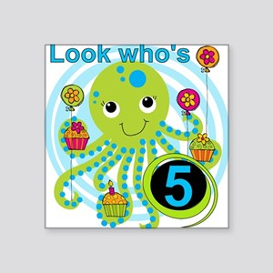 "OCTOPUSfive Square Sticker 3"" x 3"""