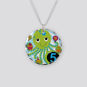 OCTOPUSfive Necklace Circle Charm