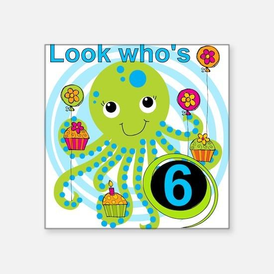 "OCTOPUSSIX Square Sticker 3"" x 3"""
