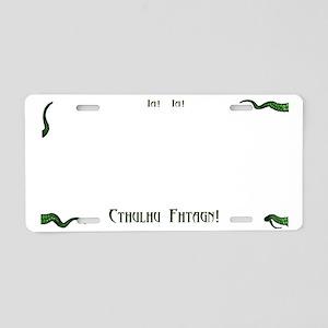 Ia Ia Cthulhu Ftagn Aluminum License Plate