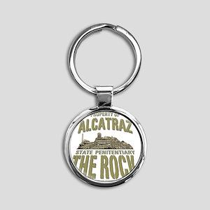 ALCATRAZ_THE ROCK_2.75x2.75_apparel Round Keychain
