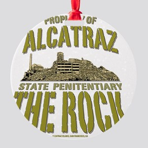 ALCATRAZ_THE ROCK_5x4_pocket Round Ornament